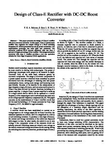 Design of Class-E Rectifier with DC-DC Boost Converter