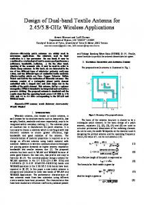 Design of Dual-band Textile Antenna for 2.45/5.8-GHz Wireless ...