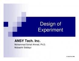 Design of Experiment - ANSYTech