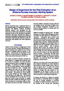 Design of Experiment for the Pilot Evaluation of an Airborne Runway ...