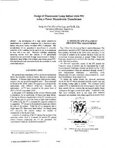 Design of Fluorescent Lamp Ballast with Pfc Using a ... - IEEE Xplore