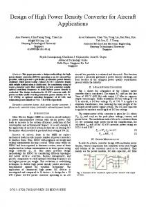 Design of High Power Density Converter for Aircraft Applications