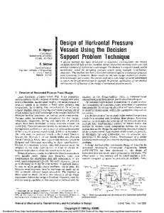 Design of Horizontal Pressure Vessels Using the
