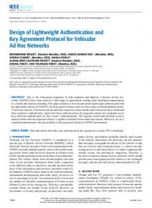 Design of Lightweight Authentication and Key ... - IEEE Xplore