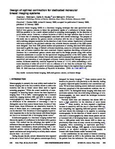 Design of optimal collimation for dedicated ... - Wiley Online Library