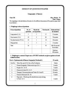 DESIGN OF QUESTION PAPER