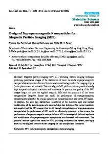 Design of Superparamagnetic Nanoparticles for Magnetic ... - MDPI