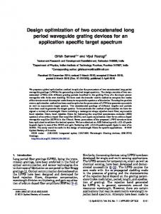 Design optimization of two concatenated long period ... - OSA Publishing
