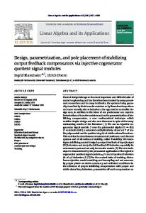 Design, parametrization, and pole placement of ... - ScienceDirect.com