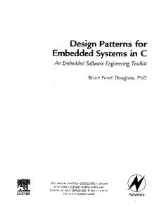 Design patterns for embedded systems in C : an embedded software ...