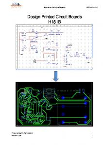 Design Printed Circuit Boards H181B
