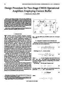 Design Procedure for Two-Stage CMOS Operational Amplifiers ...