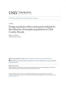 Design standards within constructed wetlands for the