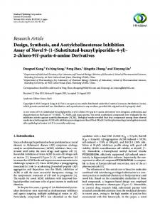 Design, Synthesis, and Acetylcholinesterase Inhibition Assay of Novel ...