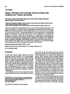 Design, Synthesis and Antifungal Activity of Some New Imidazole and