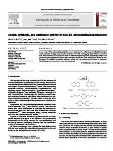 Design, synthesis, and antitumor activity of new bis