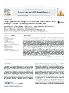 Design, synthesis and biological activity of new