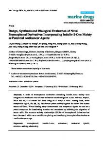 Design, Synthesis and Biological Evaluation of Novel ... - MDPI