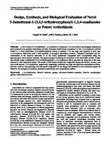 Design, Synthesis, and Biological Evaluation of Novel 5-Substituted-2 ...