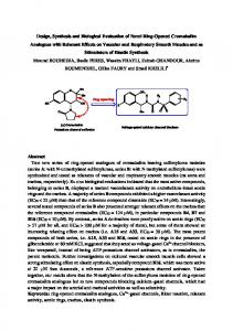 Design, Synthesis and Biological Evaluation of Novel