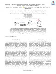 Design, Synthesis, and Evaluation of the Anticancer
