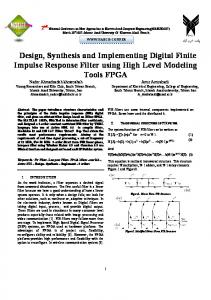 Design, Synthesis and Implementing Digital Finite