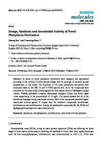 Design, Synthesis and Insecticidal Activity of Novel ... - Semantic Scholar