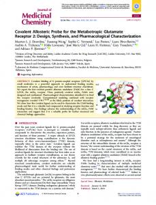 Design, Synthesis, and Pharmacological ... - ACS Publications