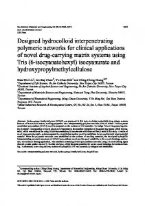 Designed hydrocolloid interpenetrating polymeric