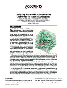 Designing Advanced Alkaline Polymer Electrolytes ... - ACS Publications