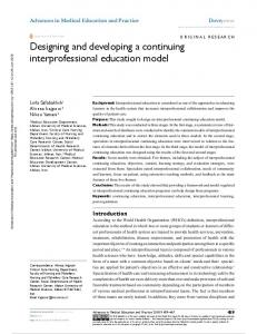 Designing and developing a continuing ...