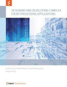 Designing and Developing Complex Event Processing ... - Sapient