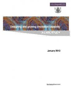 Designing and growing innovation capability - State Services ...