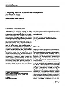 Designing Auction Mechanisms for Dynamic Spectrum Access