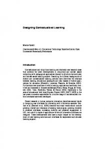 Designing Contextualized Learning - DSpace Open Universiteit