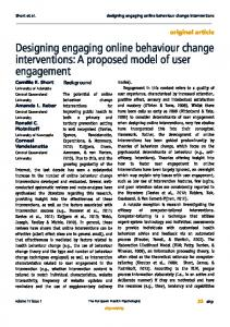 Designing engaging online behaviour change interventions: A ...