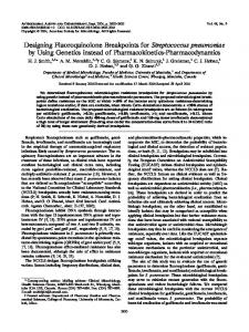 Designing Fluoroquinolone Breakpoints for Streptococcus ...