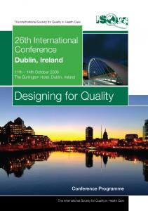 Designing for Quality - International Society for Quality in Health Care