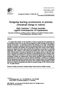 Designing learning environments to promote ... - Semantic Scholar