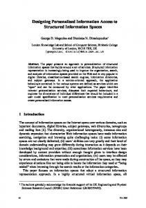 Designing Personalised Information Access to Structured Information ...