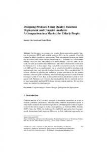 Designing Products Using Quality Function ... - Springer Link