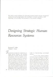 Designing Strategic Human Resources Systems - Google Sites