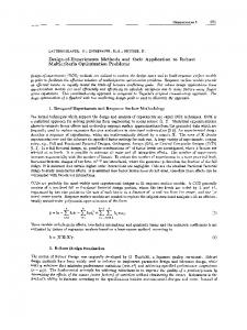 DesignofExperiments Methods and their Application to Robust ...