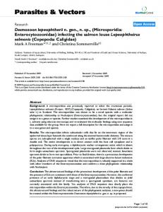 Desmozoon lepeophtherii n. gen., n. sp.,(Microsporidia ...