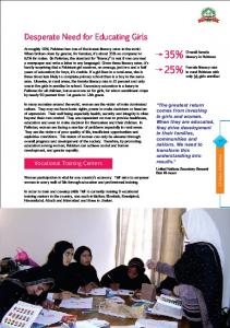 Desperate Need for Educating Girls - Tameer-e-Millat Foundation