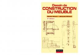 Dessin de construction du meuble - Dunod