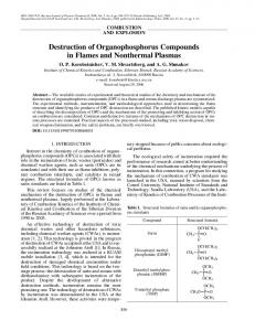 Destruction of Organophosphorus Compounds in ... - Springer Link