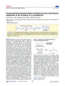 Desymmetrizing Hydroformylation of ... - ACS Publications