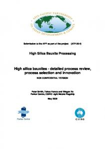 Detailed Process Review, Process Selection and Innovation