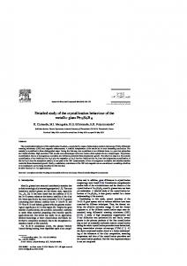 Detailed study of the crystallization behaviour of the metallic glass